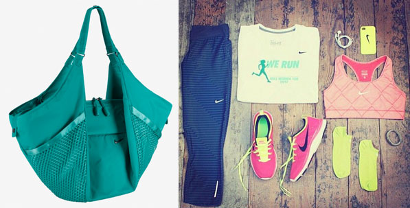 Green Gym Bag by Nike