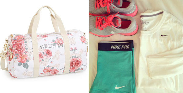 Floral Gym Bag by Wildfox
