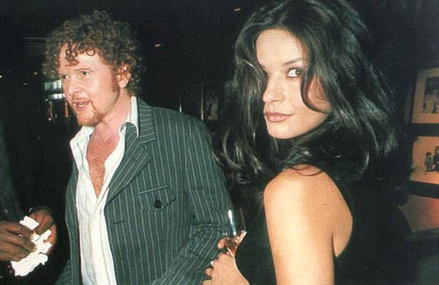 Mick Hucknall and Catherine Zeta Jones