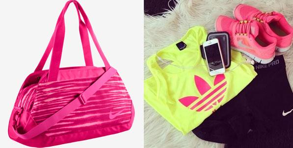 Nike Neon Pink Gym Bag