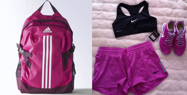 Pink Backpack by Adidas