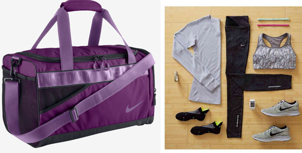 Big Purple Gym Bag by Nike