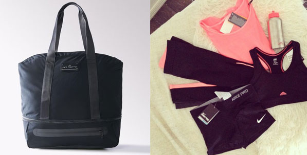 Stella McCartney for Adidas Black Gym Bag