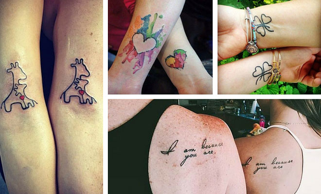 66 amazing mother daughter tattoos stayglam for Matching tattoos for mother and daughter quotes