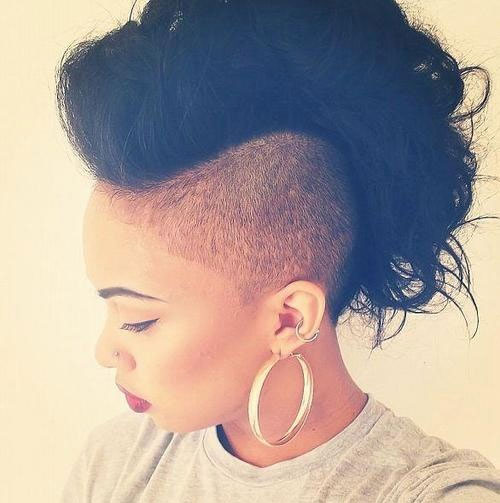 Outstanding 50 Mohawk Hairstyles For Black Women Stayglam Hairstyles For Men Maxibearus