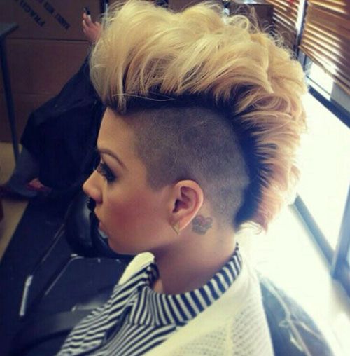 Peachy 50 Mohawk Hairstyles For Black Women Stayglam Hairstyle Inspiration Daily Dogsangcom