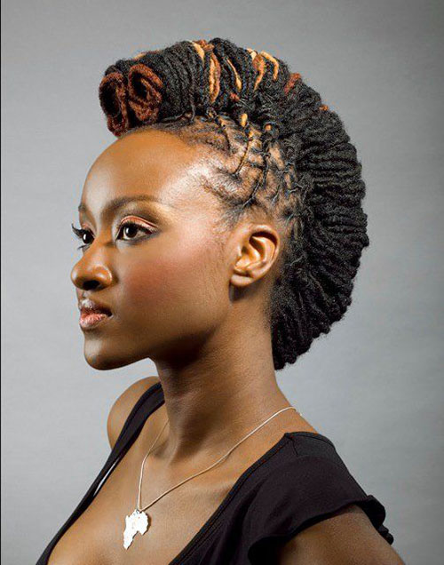 Astounding 50 Mohawk Hairstyles For Black Women Stayglam Hairstyle Inspiration Daily Dogsangcom