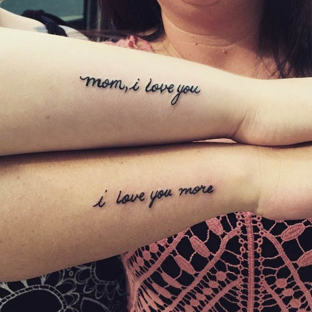 66 Amazing Mother Daughter Tattoos | StayGlam