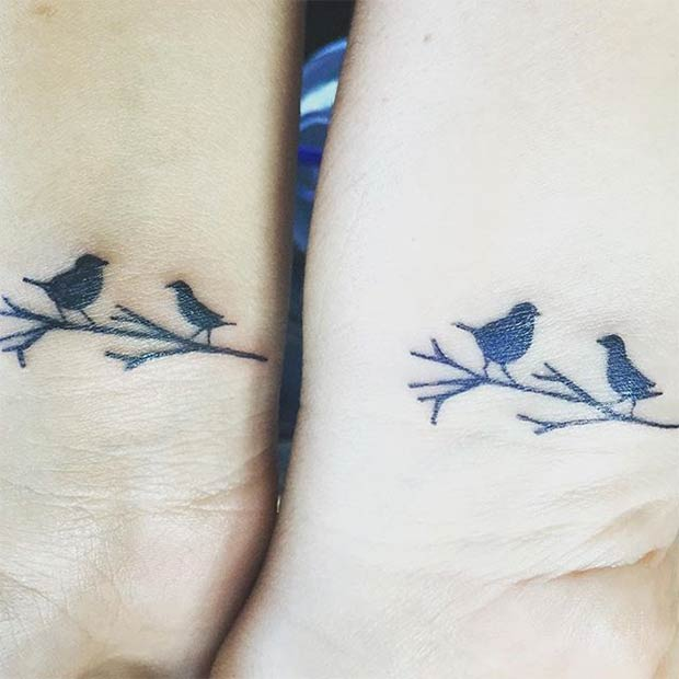 Birds on the Branch Matching Tattoos