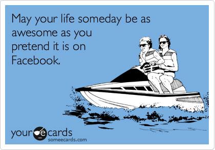 Bragging on Facebook ecard