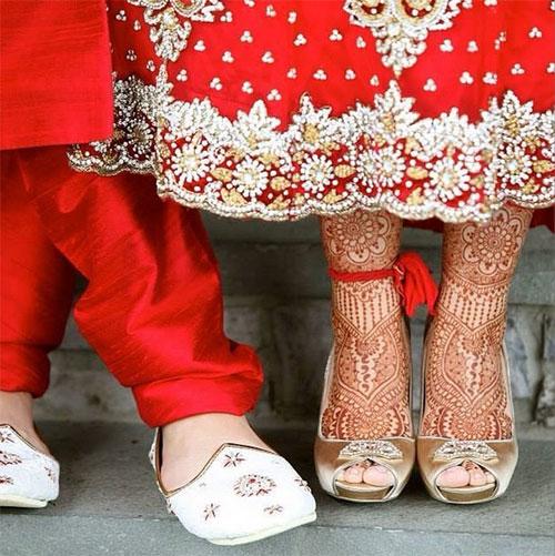 Statement Red Henna Design