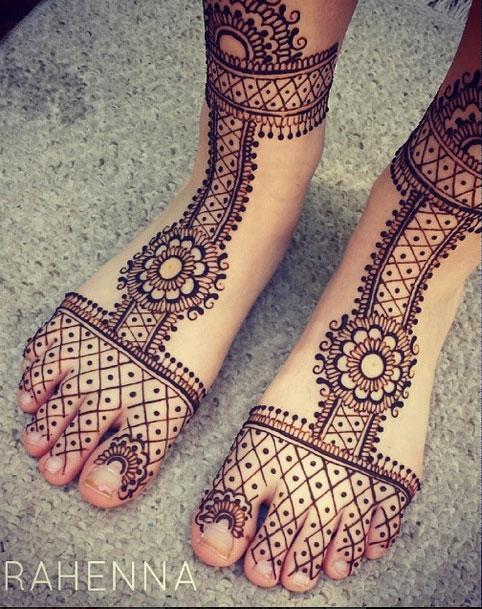 Stunning Foot Henna Design