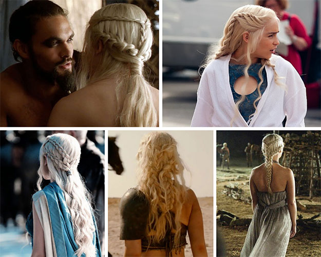 Daenerys Braided Dothraki Hairstyle