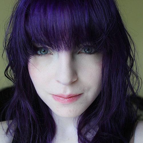 Dark Purple Hairstyle
