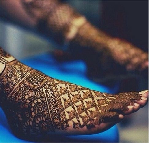 Intricate Foot Henna