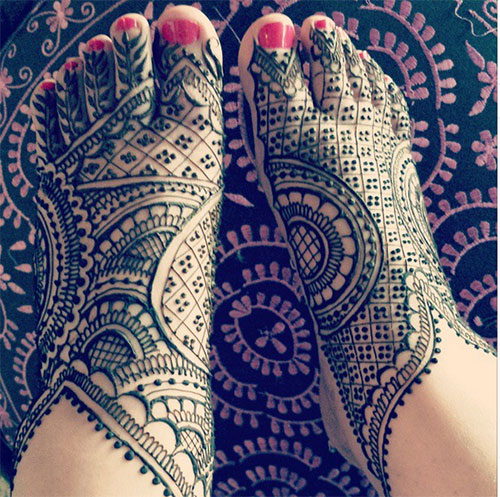 Dots and Patterns Foot Henna