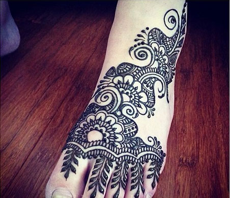 Top 50 Foot Henna Designs Stayglam