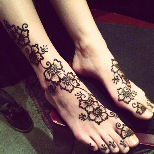 Mehndi Henna Kaki : Top foot henna designs stayglam