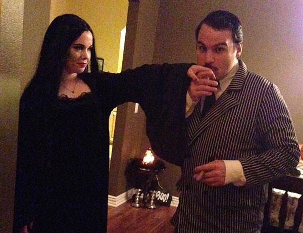 Gomez and Morticia Addams Couple Costume