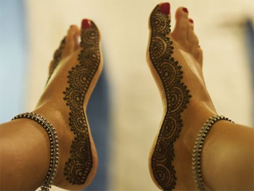 Top 50 foot henna designs stayglam for Foot henna tattoo
