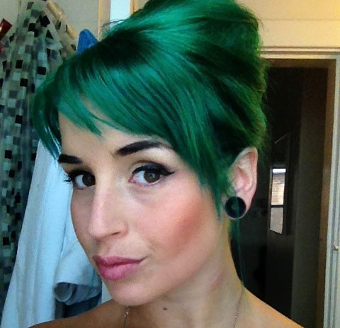 Green Updo Hairstyle