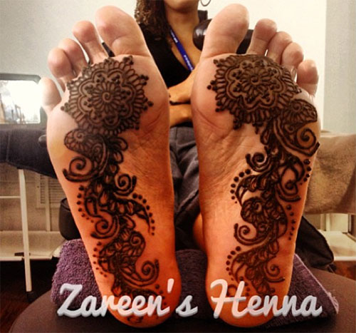Henna on the Sole of the Foot