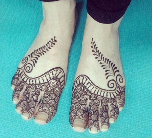 Half Foot Henna Idea