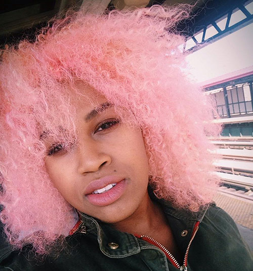 Pink hair ebony