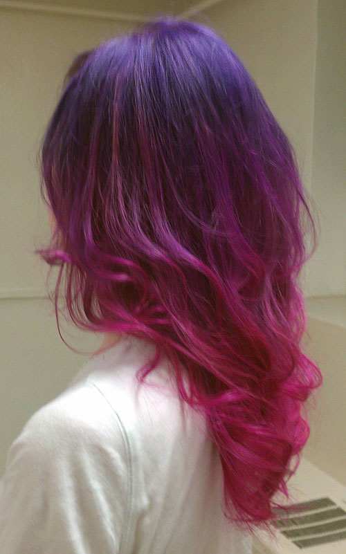 Long Ombre Funky Hairstyle