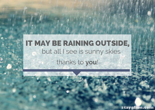 Rain Quote for Couples
