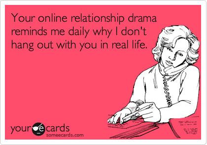 Relationship Drama on Facebook eCard