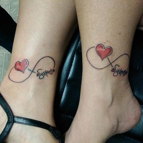 Instagram   piosgimiktattoosInfinity Sister Tattoos With Heart