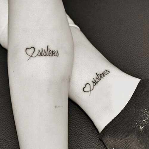 Matching sister tattoo quotes quotesgram for Tattoos for sisters with meaning