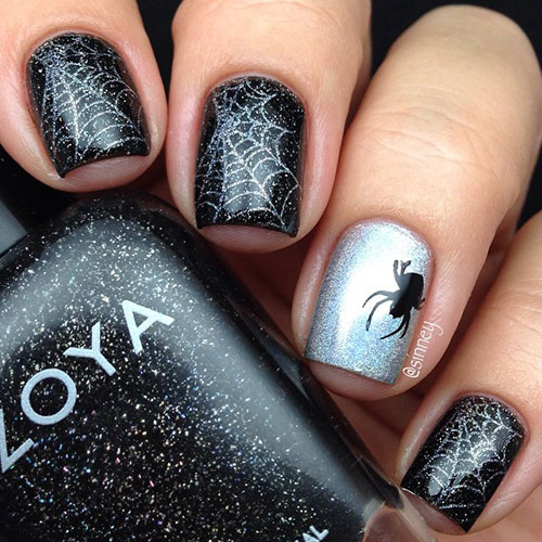 30 spooktacular nail ideas for halloween stayglam spider web nails instagram sinney prinsesfo Choice Image