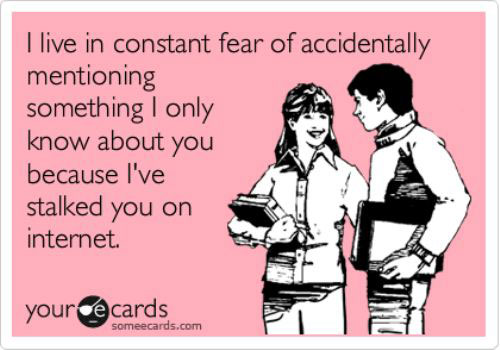 Stalking on Facebook ecard