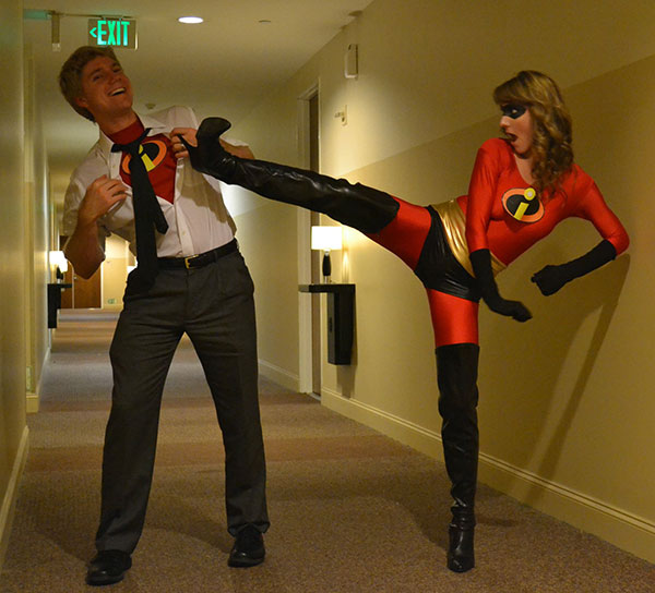 The Incredibles Couple Costume. Source reddit.com & 55 Halloween Costume Ideas for Couples |StayGlam
