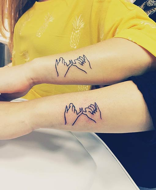 837e5af44 69 Heart-Warming Sister Tattoo Ideas | StayGlam