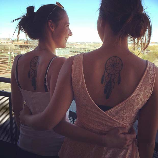 Sister Dream Catcher Matching Tattoos