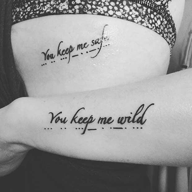69 Heart-Warming Sister Tattoo Ideas | StayGlam