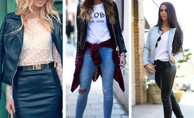 Fashion. 10 Leather Jacket Outfit Ideas