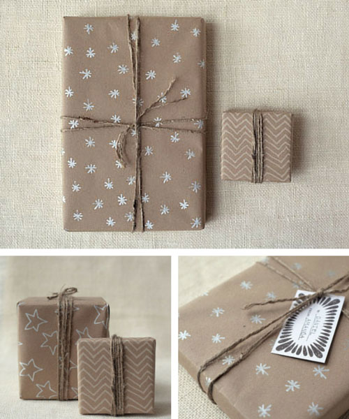 Brown Kraft Paper Christmas Gift Wrapping