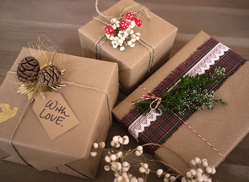 brown paper christmas wrapping ideas