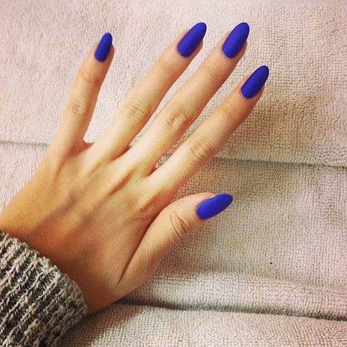 Cobalt Blue Matte Nails
