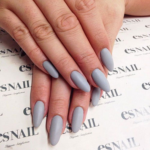 Grey Matte Nails for Fall
