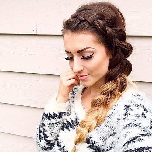 Messy Inverted French Side Braid