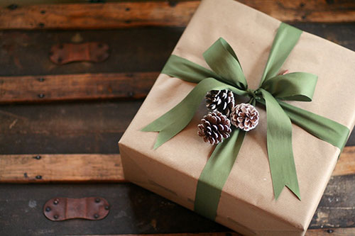 Simple Pine Cone Brown Paper Gift Wrap