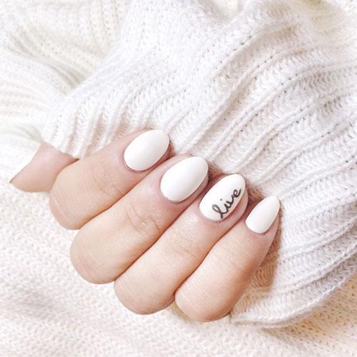 White Matte Live Nails