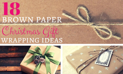 18 Brown Paper Christmas Gift Wrapping Ideas