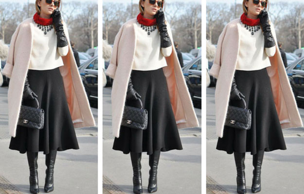 e592c2a39 11 Midi Skirt Outfits for This Winter | StayGlam