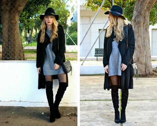 Cool Black and Grey Winter Outfit